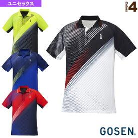 【テニス・バドミントン ウェア(メンズ/ユニ) ゴーセン】 ゲームシャツ/ユニセックス(T1940)