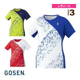 【テニス・バドミントン ウェア(レディース) ゴーセン】 ゲームシャツ/レディース(T1943)