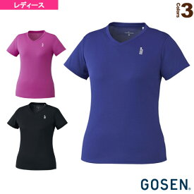 【テニス・バドミントン ウェア(レディース) ゴーセン】 ゲームシャツ/レディース(T1965)