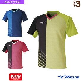 【卓球 ウェア(メンズ/ユニ) ミズノ】 ゲームシャツ/日本代表選手着用モデル/ユニセックス(82JA0011)