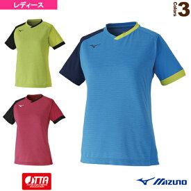 【卓球 ウェア(レディース) ミズノ】 ゲームシャツ/レディース(82JA0203)