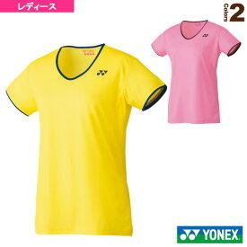 【テニス・バドミントン ウェア(レディース) ヨネックス】 ドライTシャツ/レディース(16443)