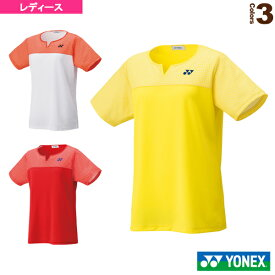 【テニス・バドミントン ウェア(レディース) ヨネックス】 ゲームシャツ/レギュラータイプ/レディース(20541)