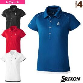 【テニス・バドミントン ウェア(レディース) スリクソン】 ポロシャツ/クラブライン/レディース(SDP-1030W)