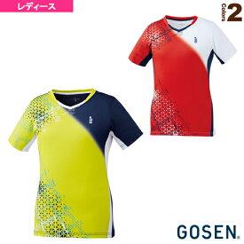 【テニス・バドミントン ウェア(レディース) ゴーセン】 ゲームシャツ/レディース(T2003)