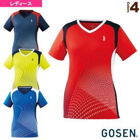 【テニス・バドミントン ウェア(レディース) ゴーセン】 ゲームシャツ/レディース(T2005)