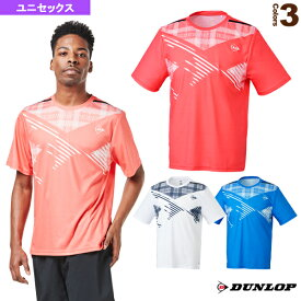 【テニス・バドミントン ウェア(メンズ/ユニ) ダンロップ】 ゲームシャツ/ユニセックス(DAP-1100)