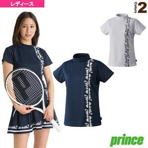 【テニス・バドミントン ウェア(レディース) プリンス】 ゲームシャツ/レディース(WF1070)