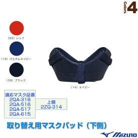 【野球 グランド用品 ミズノ】 取り替え用マスクパッド/下側(2ZQ315)