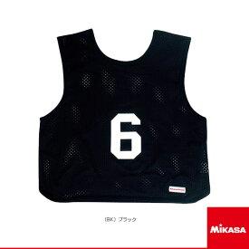 【オールスポーツ アクセサリ・小物 ミカサ】ゲームジャケット/ソフトバレー用/レギュラーサイズ/1番〜15番 単品/ブラック(GJSV)