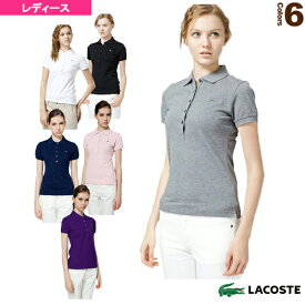73304936deb4 半袖リブカラーシャツ/レディース(PF169V)《ラコステ テニス・バドミントン ウェア(レディース