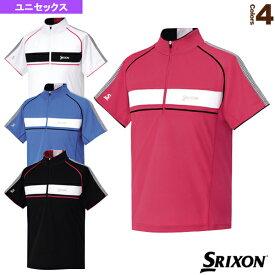 【テニス・バドミントン ウェア(メンズ/ユニ) スリクソン】 ジップシャツ/ユニセックス(SDP-1511)テニスウェア男性用