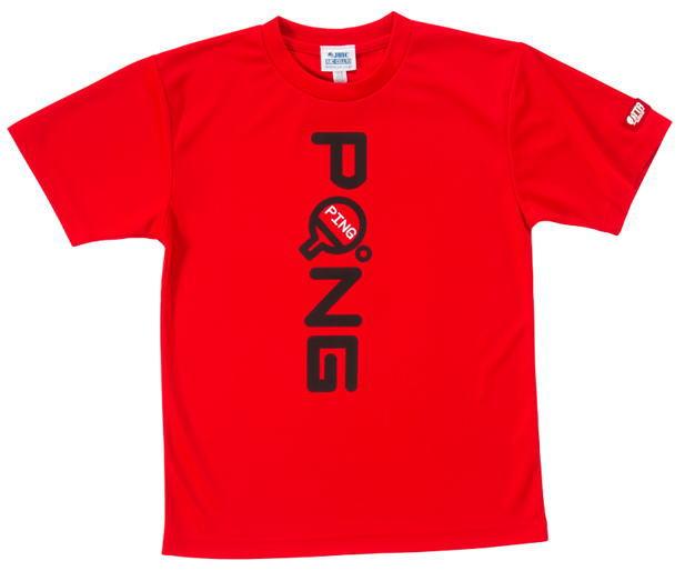 ジュウイック 卓球 PONGTシャツ(男女兼用サイズ)5547(レッド)