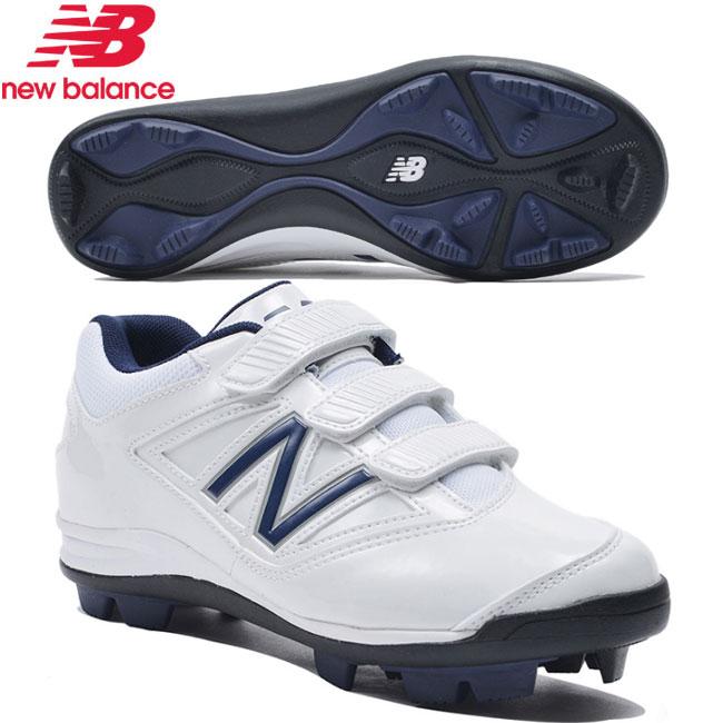 【お取り寄せ商品】 NEWBALANCE JA4040 WHITE NAVY ニューバランス 少年野球スパイク ポイント スタッド固定式