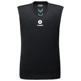 接触冷感 ひんやり 生地 冷感 ノースリーブ インナー ジュニア トップス ヒュンメル つめたインナーシャツ HJP5026