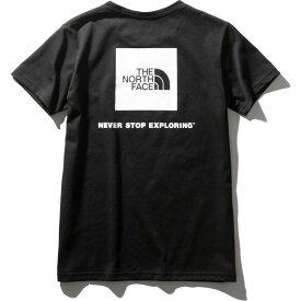 ノースフェイス Tシャツ レディース 半袖 ショートスリーブスクエアーロゴティー NTW32038-K
