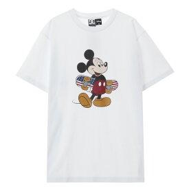 DC SHOES(DCシューズ) ディズニー ミッキー Tシャツ メンズ 半袖 5226J041-WHT1