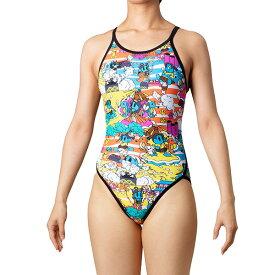 ◎◇20年春夏 アリーナ レディース競泳水着 練習用 SAR-0118W BKYL