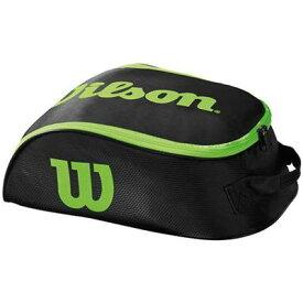 【P2倍+5%OFFクーポン】ウイルソン テニス バドミントン シューズケース TOUR IV SHOE BAG BKGR WRZ843887 BLK/GRN