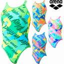 【P2倍+10%OFFクーポン】◎▽▽21年 アリーナ レディース競泳水着 練習用 スーパーフライバックダブル SAR-1117W