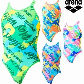 【P5倍+5%OFFクーポン】◎▽▽21年 アリーナ レディース競泳水着 練習用 スーパーフライバックダブル SAR-1117W