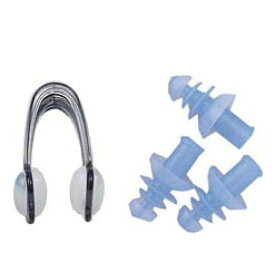スイミング 鼻栓&耳栓セット はなせん みみせん 414-375 シリコーン 子ども 大人 男女兼用 プール 水泳 シンクロ 匂い つわり 学習
