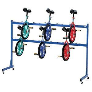 一輪車ラック 12台収納 3159 日本製 体育 体操 室内 授業
