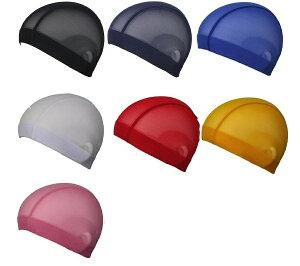 スイミングキャップ スイムキャップ ゆったりサイズ 大きめ YA445 LLサイズ メッシュ 大人 男女兼用 プール 水泳 帽子 ジュニア フィットネス メタボ