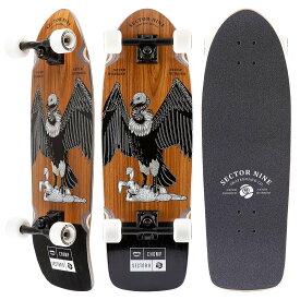 セクターナイン サーフ スケートボード メンズ/レディース CHOMP BRAND COLLABORATION HARE FAT WAVE CR20SD02 21SP