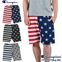チャンピオン [CHAMPION] スウェット ショートパンツ 全3色 星条旗 デザイン 半ズボン ショーツ ボトムス マルチカラー SHORTS SWEAT P…