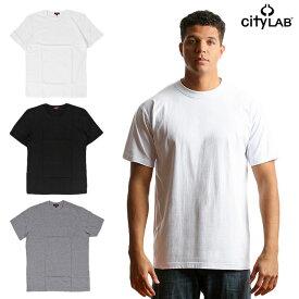 CITY LAB シティーラブ / 無地 Tシャツ クルーネック 丸首 プレーン Tシャツ インナー ファッション シンプル メンズ 大きいサイズ ブラック ホワイト グレー TEE PLAIN TEE XL XXL XXXL ダンス 衣装
