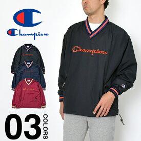 チャンピオン ジャケット CHAMPION スカウトジャケット メンズ ナイロンジャケット Vネック ウィンドブレーカー 大きいサイズ ビッグシルエット アウター 撥水 ブラック 黒 ネイビー 紺 バーガンディー アクションスタイル レディース 春夏新作 C3-R604