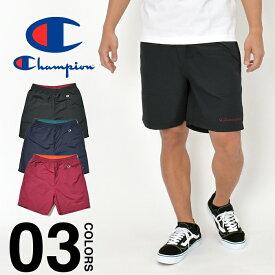 チャンピオン ハーフパンツ Champion メンズ レディース アクションスタイル ショーツ ショートパンツ ナイロンショーツ 大きいサイズ ビッグサイズ 無地 ブランド ファッション ブラック 黒 ネイビー 紺 S M L XL C3-R505