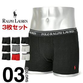 ラルフローレン ボクサーパンツ メンズ 3枚セット Polo Ralph Lauren ポロ 3枚組 3P セット 大きいサイズ 下着 パンツ 3枚組セット 男性 無地
