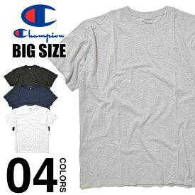 チャンピオン Tシャツ 大きいサイズ ビッグTシャツ メンズ CHAMPION T-SHIRTS USAモデル ビッグサイズ ビッグシルエット オーバーサイズ 半袖 無地 ワンポイント コットン 綿 トップス ブランド スポーツ ダンス 衣装 ホワイト 白 ブラック 黒 グレー 4XL 5XL 6XL
