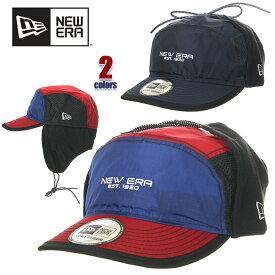ニューエラ キャップ メンズ NEW ERA キャンパーキャップ 帽子 キャップ 防寒 ドッグイヤー ブランド ファッション 紺 青 赤 ネイビー ブレー レッド