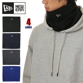 ニューエラ ネックウォーマー メンズ NEW ERA フリース マフラー ロゴ ストリート ファッション ブランド 黒 グレー ネイビー ブルー
