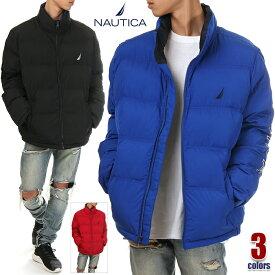 ノーティカ ジャケット メンズ USAモデル NAUTICA 中綿ジャケット 防寒ジャケット アウター 軽量 大きいサイズ ブランド 黒 青 赤 ブラック ブルー レッド S M L XL 2XL 3XL