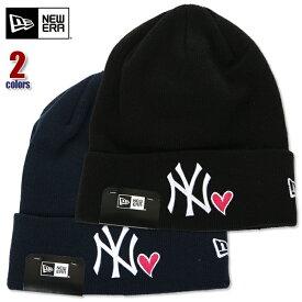 ニューエラ ニット帽 メンズ NEW ERA カフニット ニューヨーク ヤンキース ニットキャップ ビーニー NY アメカジ ストリート系 ヒップホップ ダンス 衣装 USA ブランド ファッション 黒 紺 ブラック ネイビー 11474696