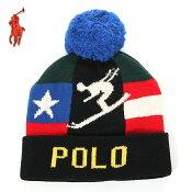 ラルフローレンニット帽ボンボンメンズレディース2018新作POLORALPHLAURENニットキャップポンポンUSAアメカジブランドファッションブルーレッド赤青