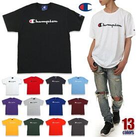 チャンピオン Tシャツ メンズ レディース CHAMPION ビッグT USAモデル ロゴ 半袖 Tシャツ 大きいサイズ ビッグサイズ ロゴ ビッグロゴ トレーニング ジム ウェア アスレジャー ブランド 白 黒 青 紺 緑 紫 赤 グレー イエロー オレンジ ブラック ホワイト S M L XL 2XL