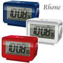 あす楽 誠時 LCDアラームクロック ローヌ LCD-005 温・湿度計つき電波時計 目覚まし時計