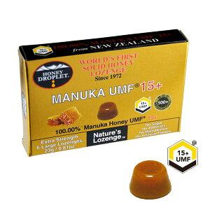 メール便OK ハニードロップレット マヌカハニー UMF15+ 6粒入り のど飴 はちみつ飴 ニュージーランド産 マヌカハニー100%