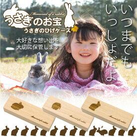 うさぎのひげケース レギュラーサイズ 桐製 ヒゲ 髭 ウサギ 兎のお宝 ウサウサ ネザーランドドワーフ ロップイヤー メモリアル 天然桐高級木使用 日本製
