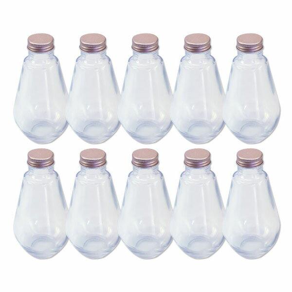 あす楽 ハーバリウム 電球型ガラス瓶 218cc 10本セット キャップ付 硝子ビン 透明瓶 花材 アロマディフューザー ウエディング プリザーブドフラワー インスタ SNS インテリア 植物標本 ボトルフラワー 花の観賞