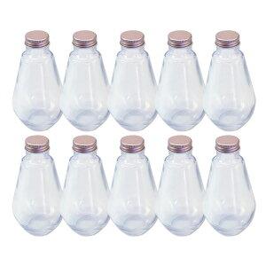 あす楽 ハーバリウム 電球型ガラス瓶 218cc 10本セット キャップ付 硝子ビン 透明瓶 花材 アロマディフューザー ウエディング プリザーブドフラワー インスタ SNS インテリ