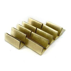 日本製 アンティーク調 ブラス 真鍮 カードスタンド ノーマルサイズ 10個セット 名刺 ポストカード立て 値札