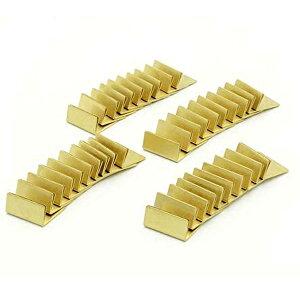 日本製 アンティーク調 真鍮カードスタンド ノーマルサイズ 40個セット ブラス カードスタンド 名刺 ポストカード 立て