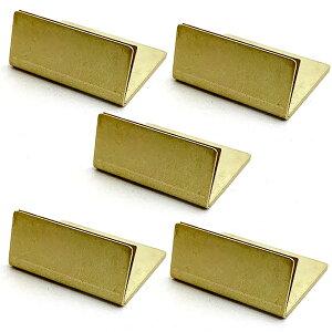 日本製 アンティーク調 真鍮 カードスタンド ノーマルサイズ 5個 名刺 ブラス カード スタンド ポストカード 立て 値札