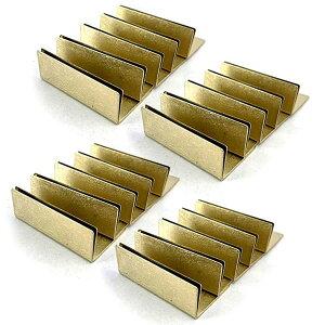 日本製 アンティーク調 真鍮 カードスタンド ワイドサイズ 20個セット ブラス 名刺 ポストカード立て 値札